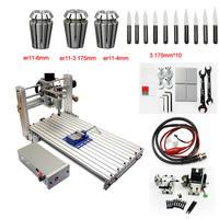 DIY ЧПУ маршрутизатор 3060 металлический мини ЧПУ фрезерный станок для печатной платы резьба