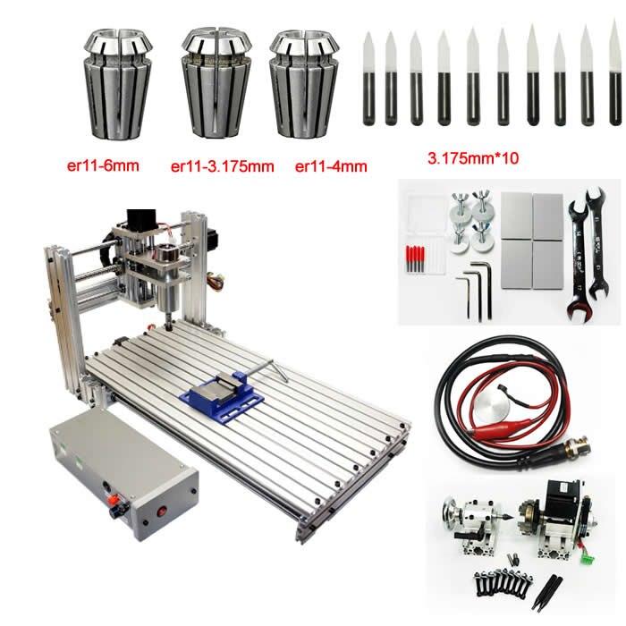 Router di CNC di DIY 3060 metallo mini macchina di fresatura cnc per pcb intaglio