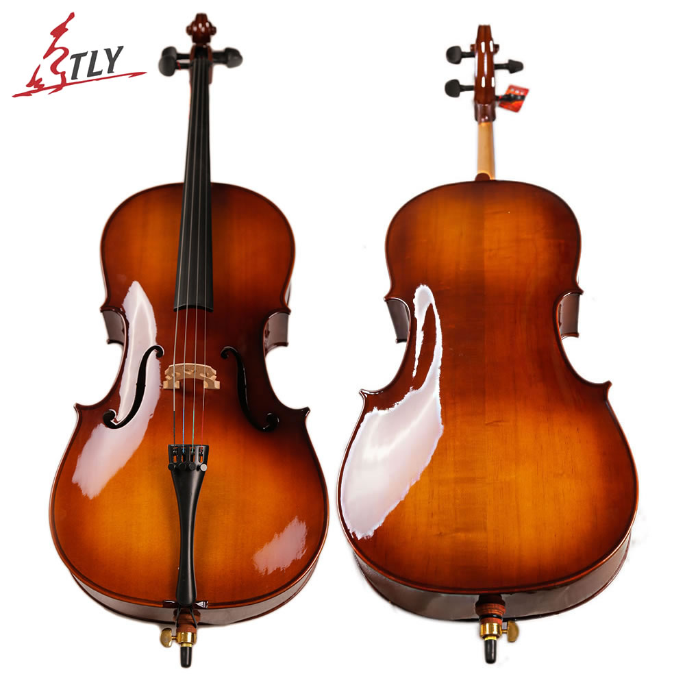 TONGLING Factory Handcraft Oil Varnish Cello 4/4 Spruce Maple Cello with Carrying Bag Mute Rosin цены