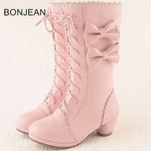 fast shipping 2017 girl's fashion boots Winter Fashion over the knee Boot  Warm Boots real wool 45