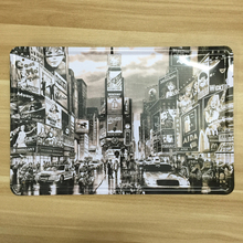 NEW YORK City Street night Retro Poter vintage painting Metal plaque crafts tin sign home iron bar cafe antique decor 20*30cm