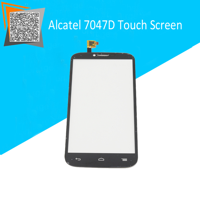 Оригинальный Сенсорный Экран для Alcatel One Touch POP C9 Dual 7047 7047D Сенсорный Экран Датчик Дигитайзер Внешний Стекло Черный Замена