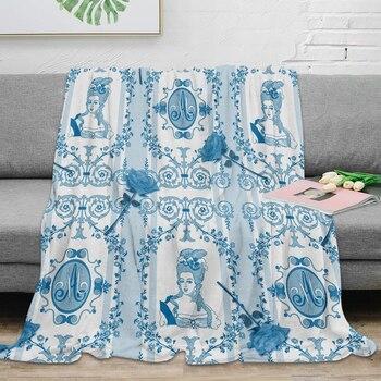 Marie Antoinette Monogram Throw Blanket Warm Microfiber Blanket Flannel Blanket Bedroom Decor Blankets For Beds Buy At The Price Of 19 45 In Aliexpress Com Imall Com