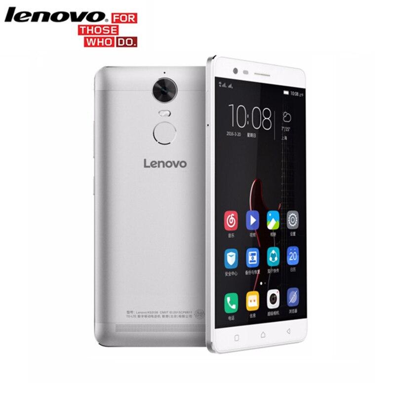 """2016 Original Lenovo K5 Note k52e78 MTK Helio P10 Octa Core Fingerprint Full Metal 3G RAM 32G ROM 5.5"""" 4G Android 6.0 Smartphone"""