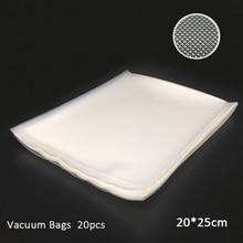 20 шт вакуумный мешок 20 см* 25 см мешок для хранения продуктов Вакуумный пакет герметичный прозрачный вакуумный упаковщик Сумки Saran wrap Sous Vide biolomix