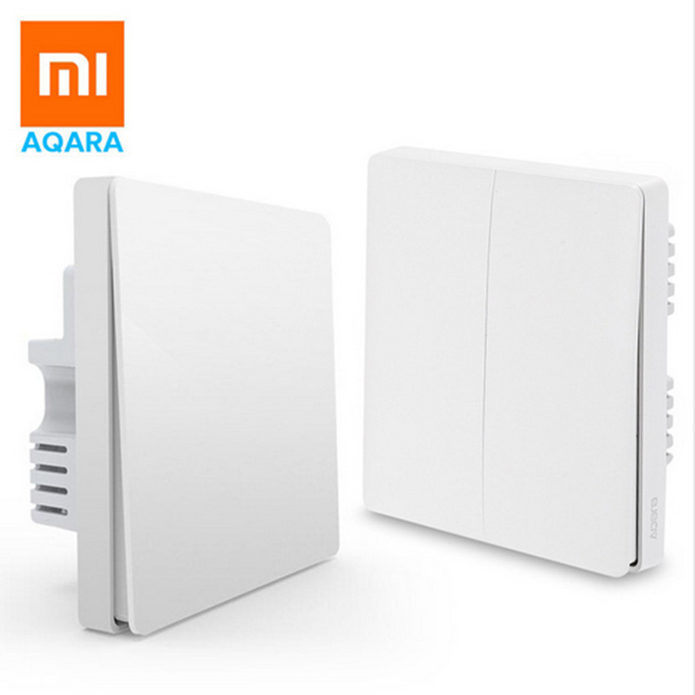Xiaomi Aqara Smart Light Switch Wireless Version Single Key xiaomi aqara smart light control fire wire и zero line single key version