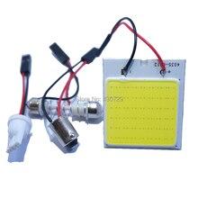 Одна штука Белый COB 48SMD чип светодиодный CarLight T10 Festoon BA9S купольный адаптер DC12V автомобильный светодиодный панельный светильник
