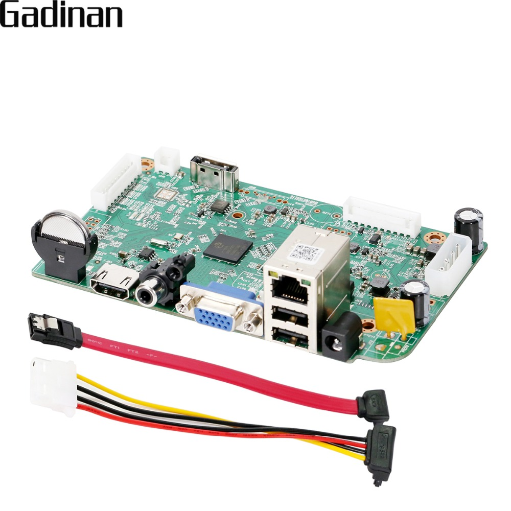 GADINAN HI3536D H.265 8CH 4MP/4CH 5MP CCTV NVR Board Security Network Video Recorder H.265 NVR CMS XMeye For IP Camera