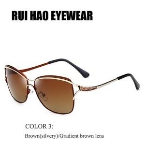 Image 4 - 瑞ハオ眼鏡ブランドファッションサングラス女性偏光サングラスの女性人気のパイロットサングラス oculos デゾル KM8116