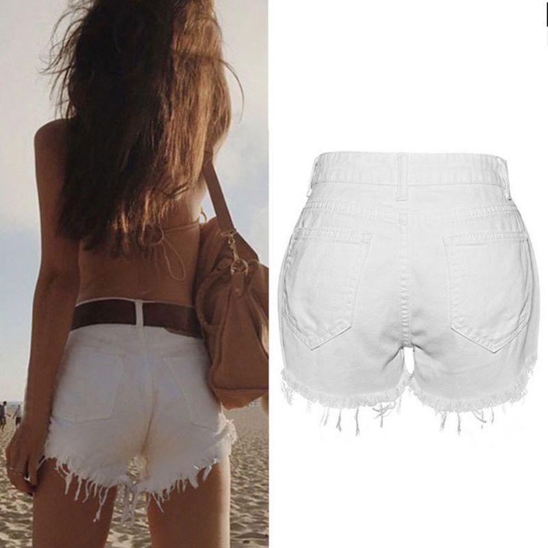 2017 Mezclilla Verano Delgados Alta Femenino Pantalones De Borla Personalidad Femenina Lace Mujeres Vaqueros Cortos Short Sexy White Cintura Shorts 88qwrgf