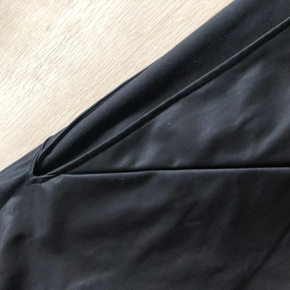 WBCTW Czarny PU Leather Sexy Bodycon Open Slide Jesień Kobiety - Ubrania Damskie - Zdjęcie 3