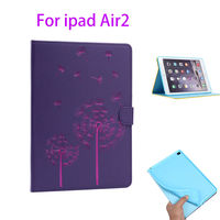 Fashion Flowers Pattern Leather Cover For Apple Ipad Air2 Ipad 6 Case Fundas Tablte Soft Silicone