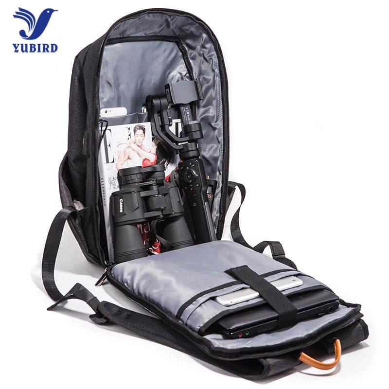 YUBIRD Бизнес 15,6 Ноутбук Рюкзак Водонепроницаемый Оксфорд зарядка через usb Многофункциональный рюкзак мода туристические рюкзаки Для мужчин
