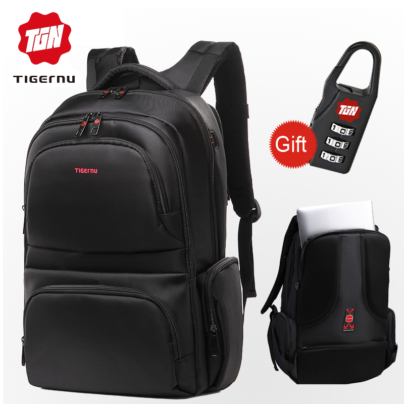 da4f4e4bad Tigernu Anti theft 15.6 Waterproof Nylon Men s Backpacks Women Backpack  Schoolbag for 14 15 Laptop Notebook ...
