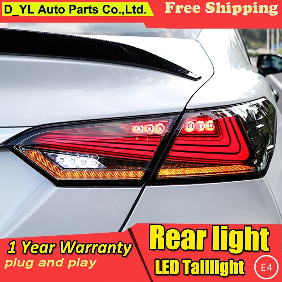 Автомобильный Стайлинг для 2018 Toyota Camry задние фонари Camry светодиодный задний фонарь DRL + Динамический сигнал поворота + тормоз + задний фонарь 4