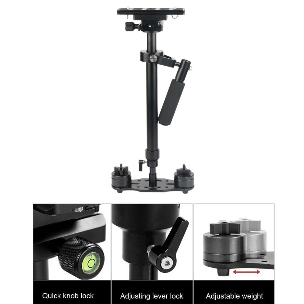 bilder für Ajustable 40 ~ 60 cm hegiht S60 Gradienter Hand Stabilizer Steadycam Steadicam für Camcorder DSLR mit tragetasche