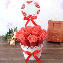 10pcs/set Wedding Flowerpot Candy Bag Personalized Engagement Gifts Box Event  Party Decoration