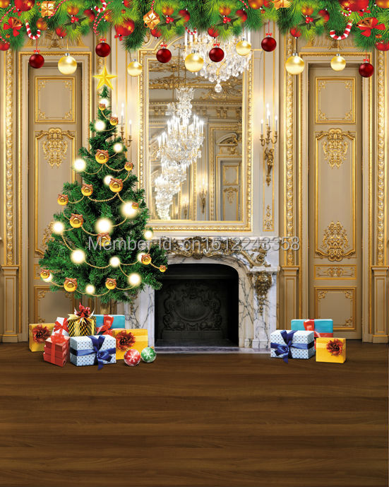 8x10FT Background Customize Photography Studio Backdrop Christmas Tree Fireplace Flower Cart Digital Printing Vinyl L815 customize hot tub cover bag and spa cap size 244 x 244 x 30 5cm 8 ft x 5 ft x 12 inch any shape and size is avaliable