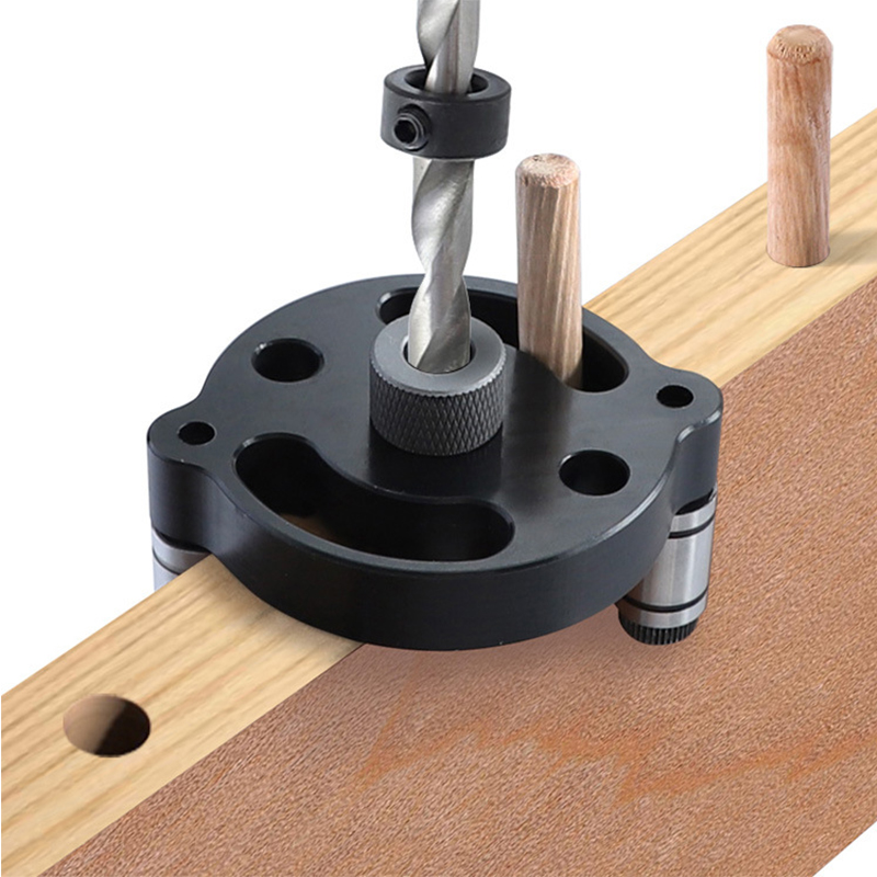 Dowel Jig 6/8/10mm Doweling Jig Drill Guide Wood Self Centering  Dowel Drilling Hole Puncher Locator Jig for Woodworking Tools