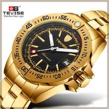 TEVISE ماركة ساعة الرجال T839A 002 ساعة ميكانيكية أوتوماتيكية التقويم مضيئة الأيدي مقاوم للماء الذكور ساعة اليد الأعمال