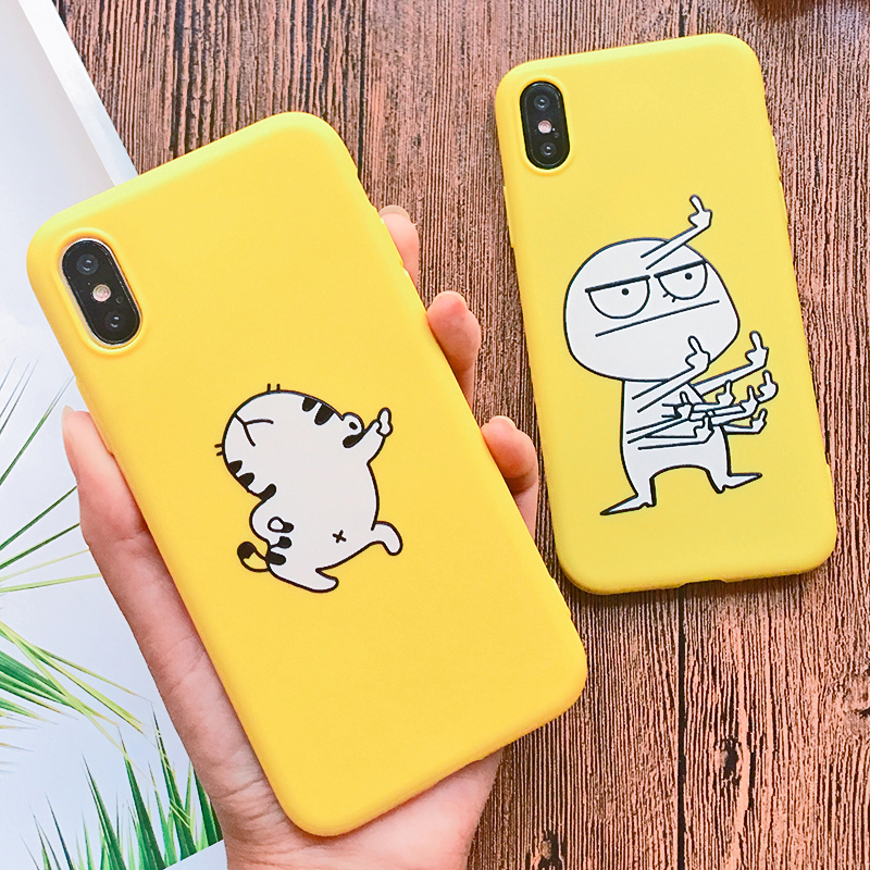 Funny Cartoon Giraffe Phone Case For iPhone 7 8 Plus TPU Silicone Back Cover for iPhone X XR XS Max 6 6S Plus 5 5S SE Soft Case (2)