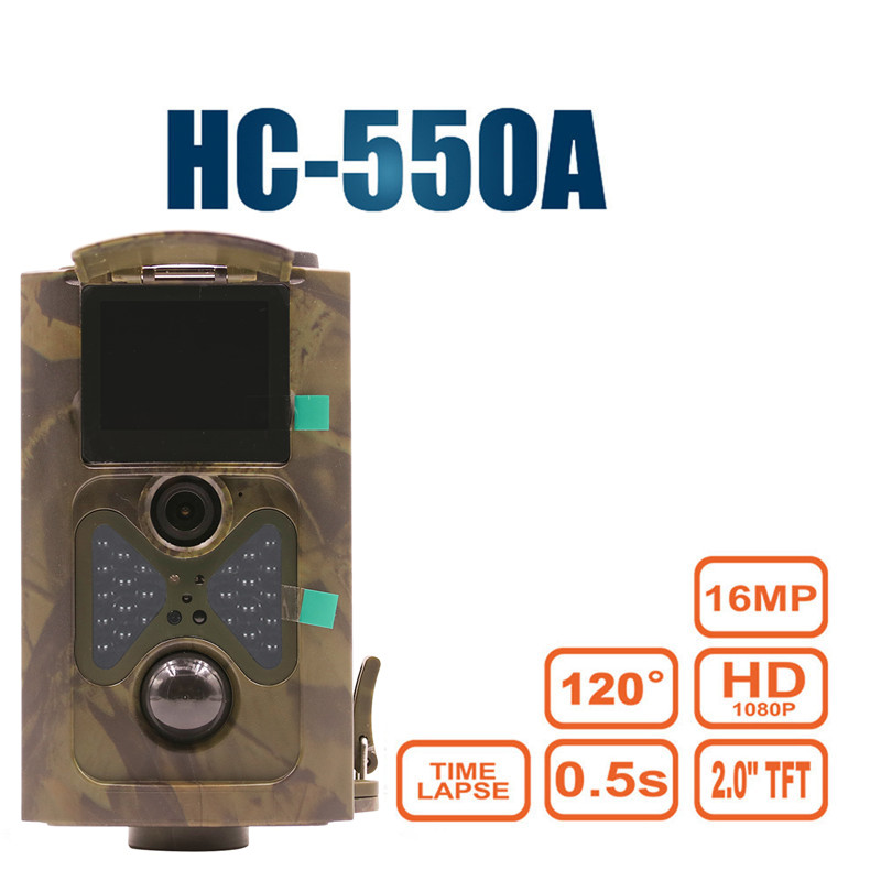 HC550A 16MP 1080P HD Wildlife camera photo-traps hunting trail camera Ghost Deer Forest wildcamera HC550A Laser hunter camera mist forest deer wall hanging tapestry