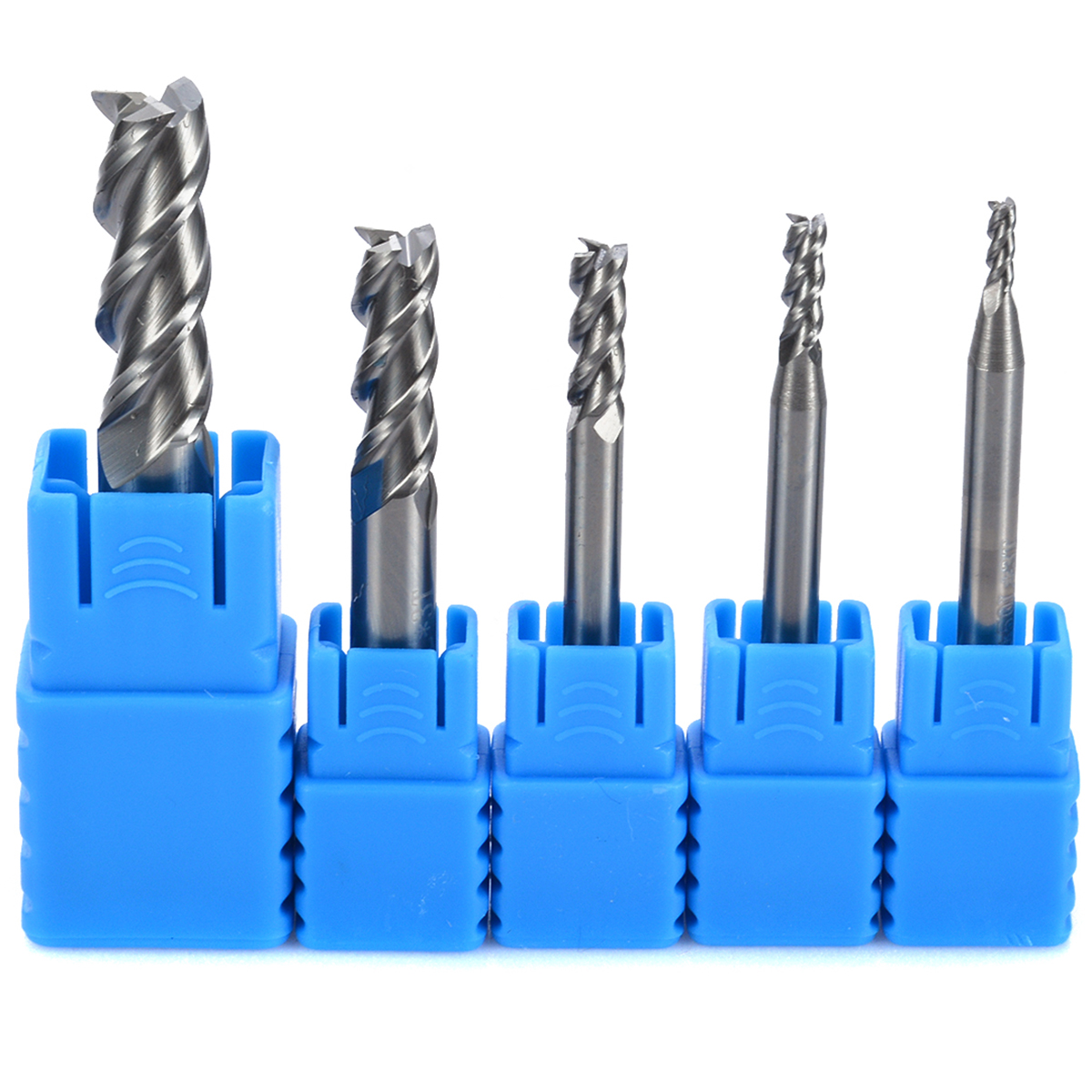 5pcs 3 Flute HRC50 Solid Carbide End Mill Tungsten Steel CNC Aluminum Milling Cutter 2/3/4/6/8mm yft 5pcs set tungsten carbide milling cutter 3 4 5 6 8mm 4 flute end mills cnc router bit for cutting metal tools