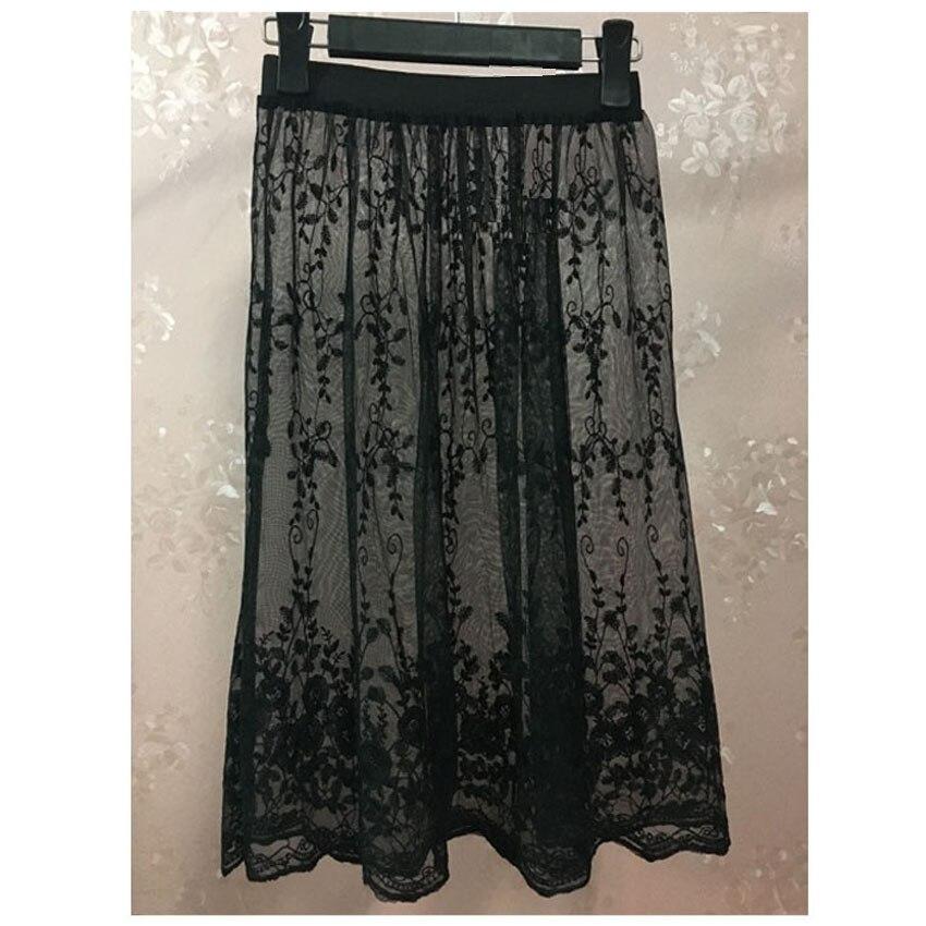 Image 5 - lace Half Slip Underskirt Women Slip Extend Petticoat mesh Transparent Skirt Lady Lace Slips Sexy lingerie femme Extender A Line-in Half Slips from Underwear & Sleepwears