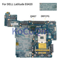 Mainboard Laptop motherboard Para DELL Latitude E6420 KoCoQin PAL50 LA 6591P CN 0RFCPG 0RFCPG QM67|Placa-mãe para notebook| |  -
