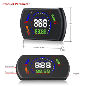 Image 5 - OBDHUD S600 car Head Up Display Car Speed Windshield Projector OBD Interface HUD RPM Voltage Water Temperature Fuel Cosumption