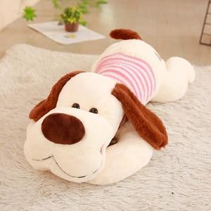 Image 3 - 1PC 70/95/110cm Kawaii Stuffed Soft Plush Toy Giant Lies Prone Dog Doll Cute Pillow Creative Dolls Kids Toys Birthday Gift