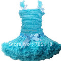 2013Children pettiskirt set,pure color chiffon tank top & skirt Girls pettiskirt tutu set 11 colors party dress Free shipping
