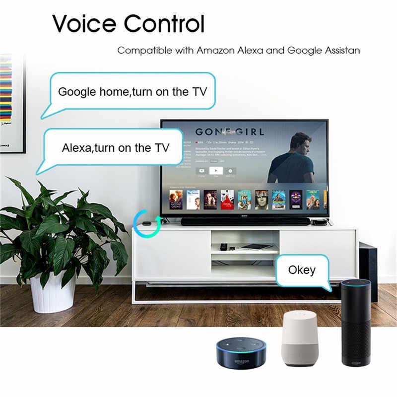 Akıllı IR kumanda Hub Kızılötesi Evrensel Uzaktan Kumanda için Bir Tüm Kontrol TV DVD CD AUD SAT vb. alexa Google Home ile çalışır