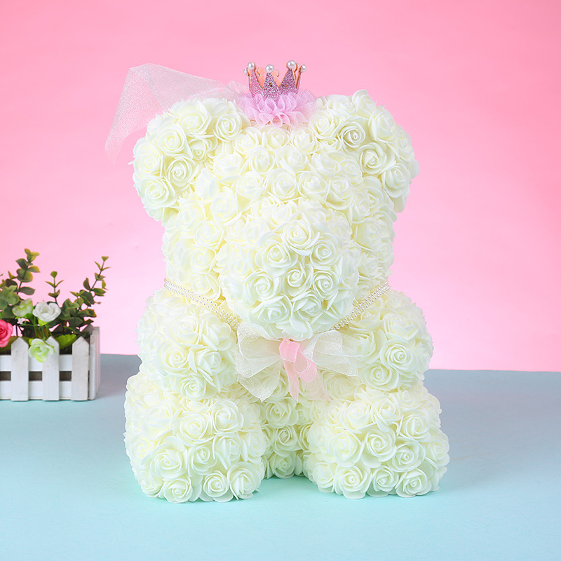 foam rose bear flower (29)