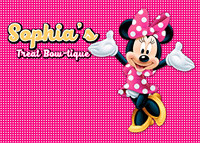 custom minnie mouse pink themed backdrops High quality Computer print party photo studio background