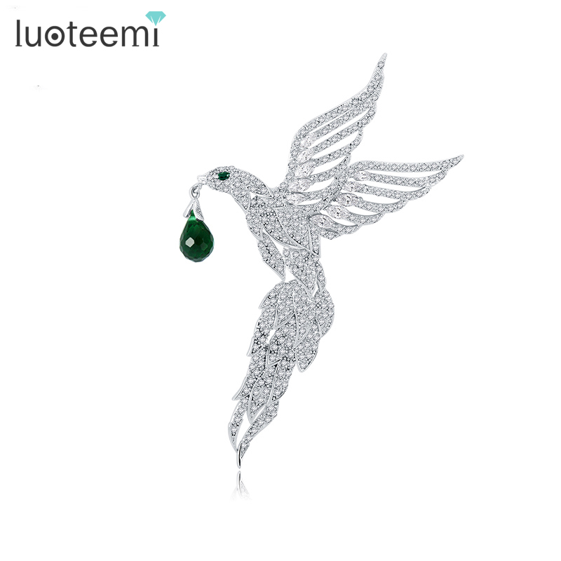 LUOTEEMI 2016 Special New European And American Original Design Fashion Women Retro Large Bird Brooch Christmas Gift Wholesale