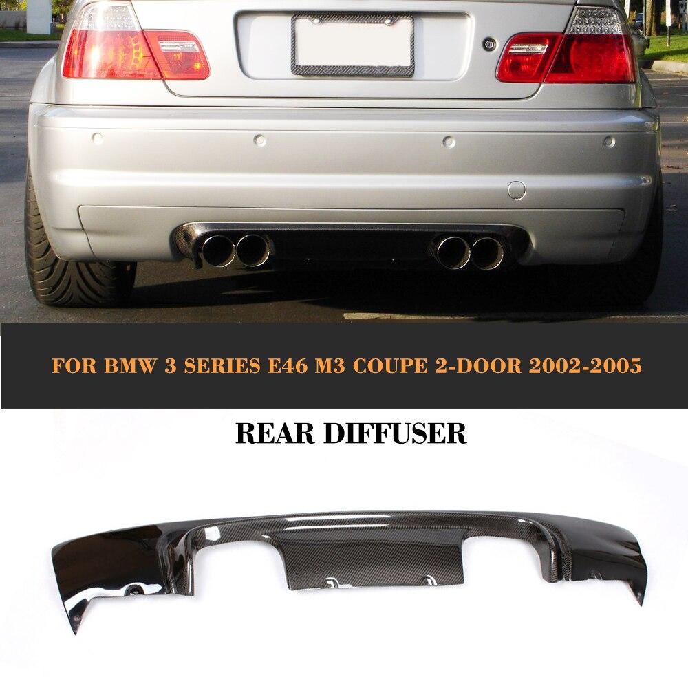 Углеродного волокна заднего бампера спойлер диффузор для BMW 3 серии E46 M3 купе 2 двери 2002 2005