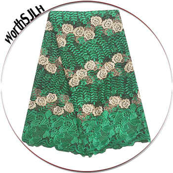 WorthSJLH Latest African Lace Fabric 2018 High Quality Lace Embroidered Green Purple 2019 French Guipure Nigerian Lace Fabrics - DISCOUNT ITEM  65% OFF All Category