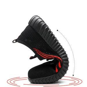 Image 4 - を 2019 新安全男性の夏の通気性作業靴軽量抗スマッシング靴男性工事メッシュスニーカー