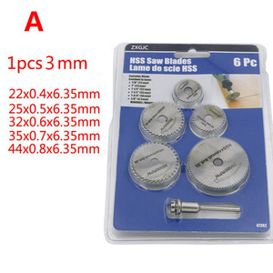 Image 4 - 6 pz/set HSS Mini Circolare Seghe Lama Dischi di Taglio Del Legno Trapano Per Utensili Rotativi Dremel Fresa In Metallo Strumento di Potere Mandrino set