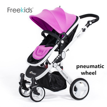 Freekids Fashion Highview Stroller For 0-36 Months Baby, Portable Folding Pushchai, Child Cart, Pram,  Buggies