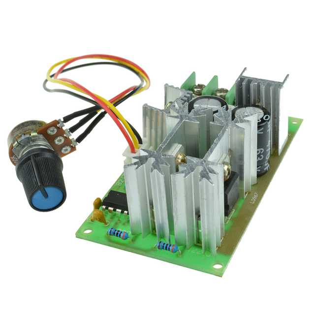Regulador Universal de velocidad del Motor DC 10-60V controlador de velocidad del Motor PWM interruptor 20A regulador de alta potencia Módulo regulador