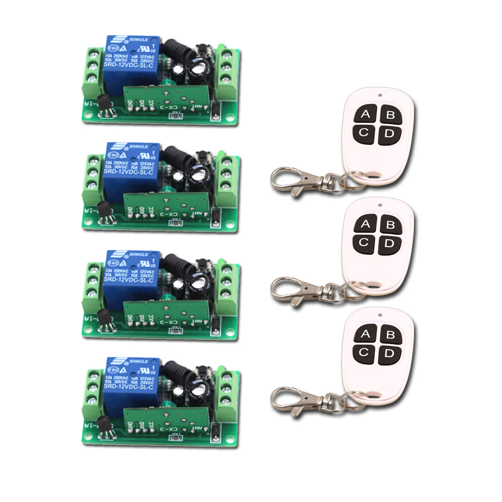 New DC9V 12V 24V 1CH Channel Relay Wireless Remote Control Switch Remote Controller Transmitter+Receiver new control relay cad series cad32 cad32ndc cad 32ndc 60v dc