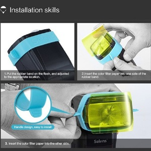 Image 3 - ใหม่ 3pcs Meking Universal Gels สำหรับแฟลช SPEEDLITE Speedlight ผูกสี Gels FILTER