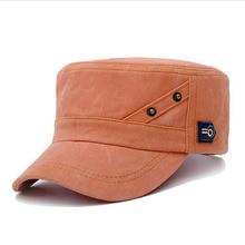 BINGYUANHAOXUAN 2018 Cotton Military Hats for Men Classic Flat Hat Snapback Baseball Caps
