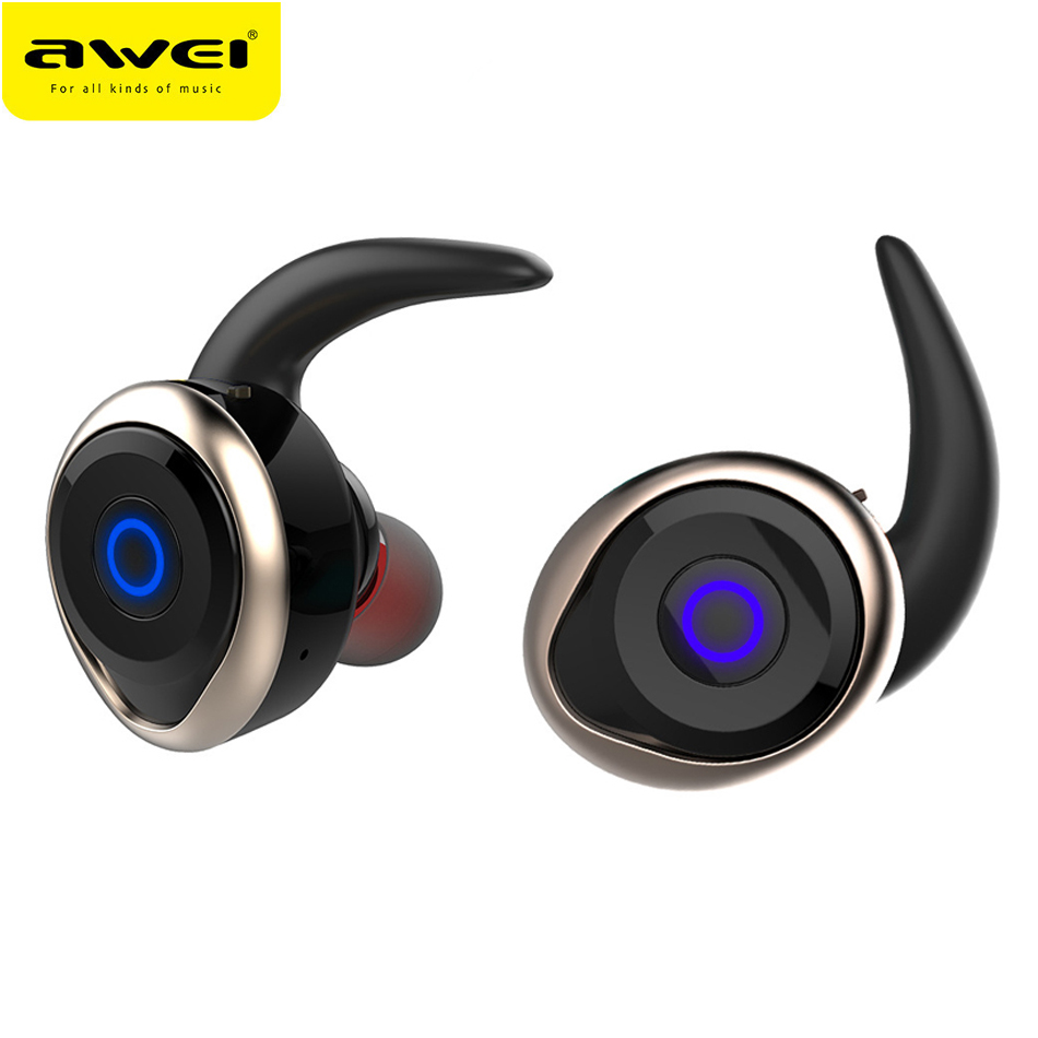 2017 Awei T1 Wireless Bluetooth Noise Cancelling Earphone Headsets Fone de ouvido Ecouteur Auriculares Bluetooth V4.2 Earbuds drizzte men s jeans classic stretch blue denim business dress straight slim jeans size 34 35 36 38 pants trousers jean for men