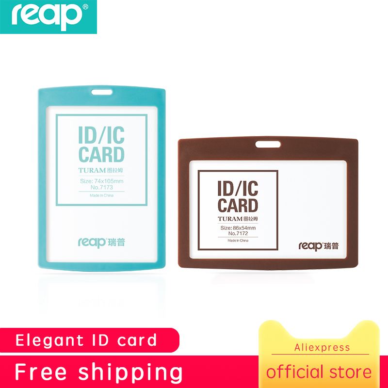Reap 7171 Standard Size ID Card Holder Name Badge Holder With Candy Color For Kids Name Label School Camp Office Business