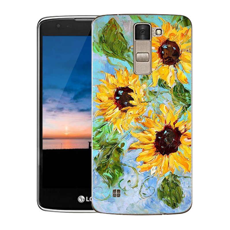 """غطاء من السيليكون ل LG K8 Lte K350 K350E K350N 5.0 """"K 8 الهاتف الغطاء الخلفي فينيكس 2 الهروب 3 حقيبة حافظة Oill مطبوعة"""
