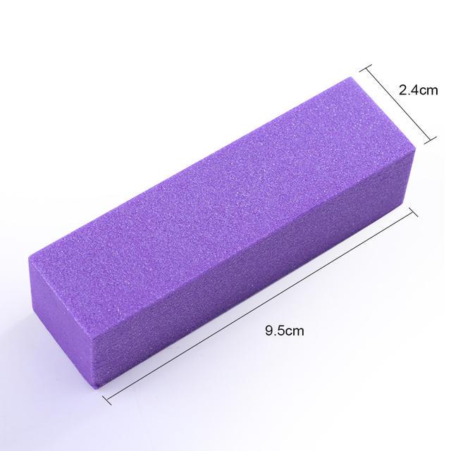 10 Pcs Colorful Nail Sanding Buffers Set Sponge Block Polishing Grinding File Tips Manicure Pedicure Nail Art Tool Kit