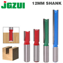 1 pçs 12mm haste 2 flauta reta bit carpintaria ferramentas roteador bit para madeira carboneto de tungstênio fresa fresa